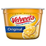 One 2.39 oz. cup of Velveeta Original Shells and Cheese Cups Velveeta Original Shells and Cheese Cups are an easy dinner that's ready in 3 1/2 minutes Easy shells and cheese meal includes shell pasta and original cheese sauce Contains no trans fats p...