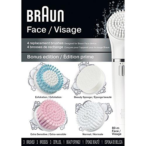 Braun Face 80M - Variety Brush Refills for Braun Mini-Facial