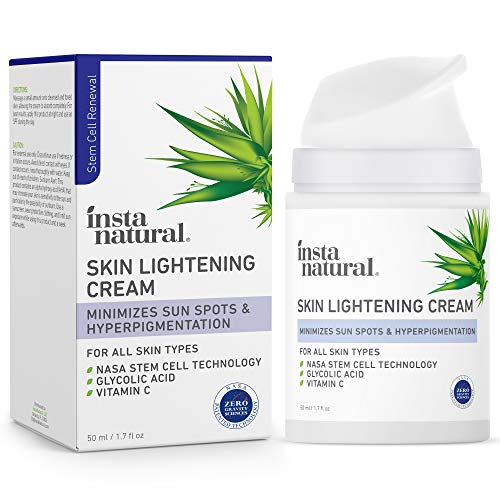 Brightening Facial Cream - Dark Spot Corrector & Remover - Scar Removal, Facial Sun & Age Spot Lightener & Brightening Hyperpigmentation Treatment Face Lotion for Women with Vitamin C - 1.7 oz