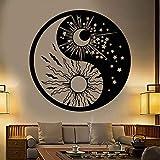 wen-shhen Pegatinas de Pared de Vinilo con símbolo de Yin y Yang para el Dormitorio Sol y...