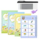 Magic Practice Copybook Writing Handwriting Drawing Alphabet Book Workbook Pen English for Kids That Can Be Resusable Set Age 2 3 4 5 6 7 8