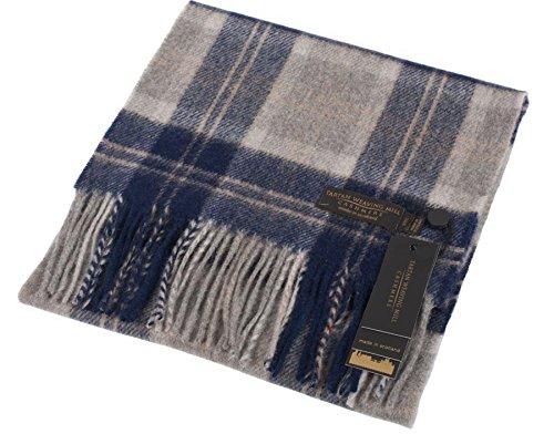 I Luv Ltd Unisex Scottish Cashmere Scarf In Bannockbane Silver Tartan Design 26cm Wide