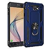 BestST Funda Samsung Galaxy J7 Prime con Anillo Soporte, con HD Protector de Pantalla, Robusta Carcasa Híbrida TPU + PC de Doble Capa Anti-arañazos Caso para Samsung Galaxy J7 Prime SM-610