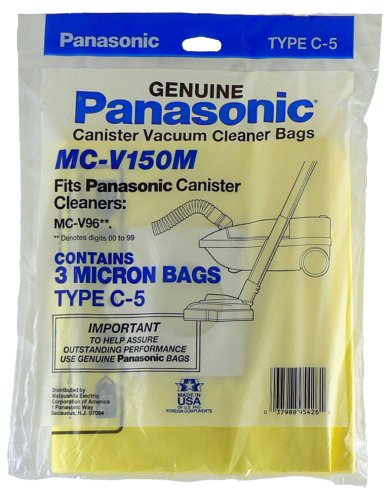 Panasonic MC-V150M Replacement Bag for Canister, 3-Pack