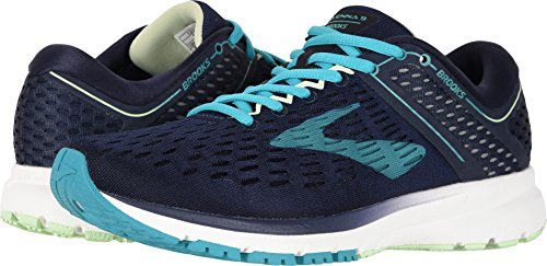 Brooks Women's Ravenna 9- Wide (10 D US) Navy/Blue/Green