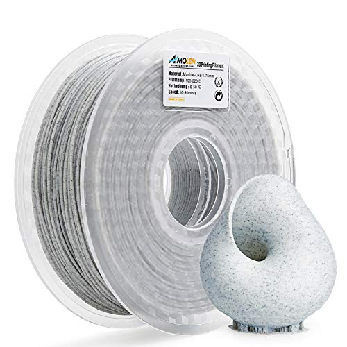 AMOLEN 3D Printer Filament, Marble Color PLA Filament 1.75mm +/- 0.03 mm, 1KG, 3D Printing Materials for 3D Printer and 3D Pen