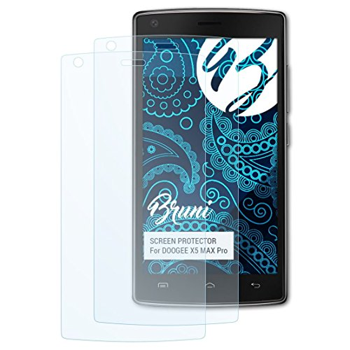 Bruni Schutzfolie kompatibel mit DOOGEE X5 MAX Pro Folie, glasklare Bildschirmschutzfolie (2X)