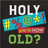 Creative Converting 339859 Old Age ユーモアナプキン 6.5インチ マルチカラー
