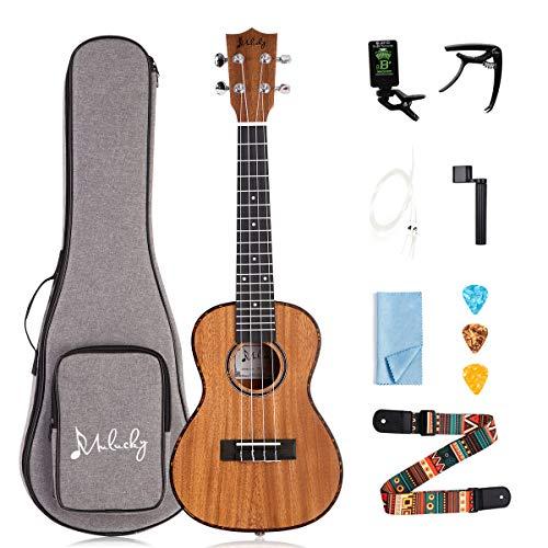 Mulucky Ukulele Concert 23 Inch 4 Aquila Strings Premium Mahogany With Beginning Kit - MUK-CT2