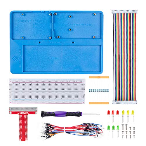 SunFounder Raspberry Pi RAB Holder Breadboard Kit with 830 Points solderless Circuit Board Raspberry Pi Holder for Arduino R3, Mega 2560 & Raspberry Pi 3B+, 3 Model B, 2 Model B and 1 Model B+