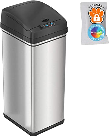 iTouchless 13 Gallon Pet-Proof Sensor Trash Can   Amazon