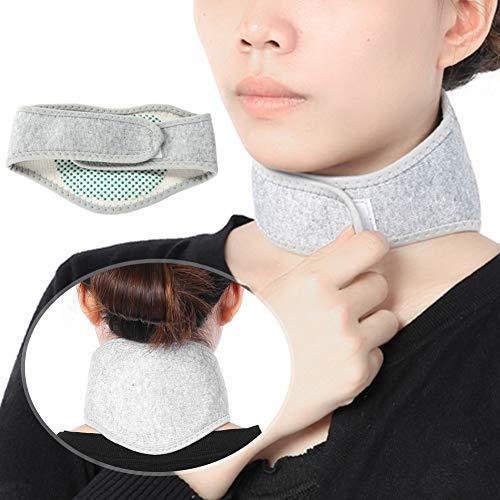 Halskrause und Nackenbandage, Nackenstütze gegen Nackenschmerzen, Wärmende Nackenwärmer mit Turmalin Magneten, Halswärmer Nackenstütze, selbstwärmend verstellbare Cervicalstütze (1)