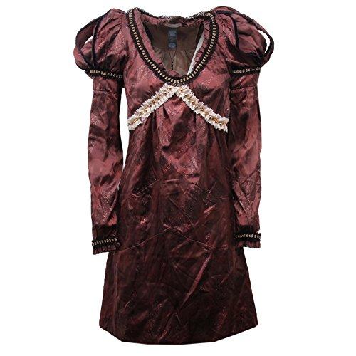 Custo D1328 Vestito Donna Barcelona Slim FIT Marrone Dress Silk Woman [34/XXS]