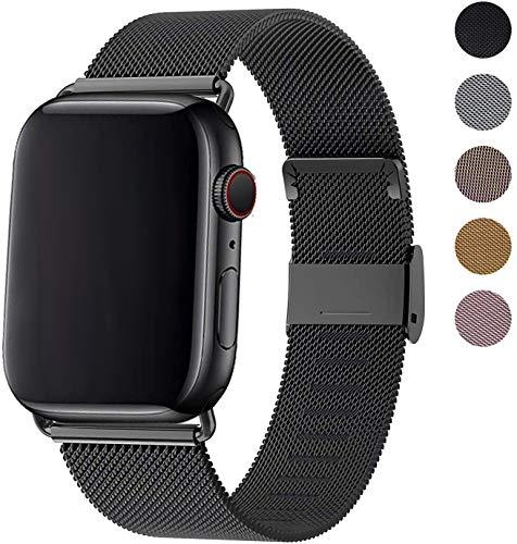 Ersatzarmband Kompatibel mit Smart Watch Armband 44mm 42mm, Metall Edelstahl Ersatzarmband kompatibel mit Watch Series 5/4/3/2/1