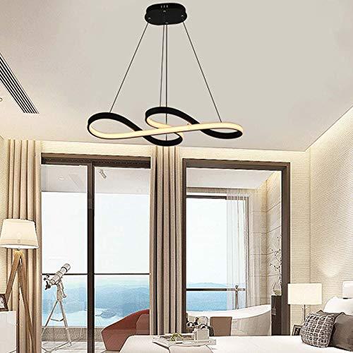 Lámpara LED Moderna - Pantalla De Silicona Mesa De Comedor Lámpara Colgante De 45w Sala De Estar Sencillez Luz De Techo Dormitorio Altura Ajustable,78x36x15cm