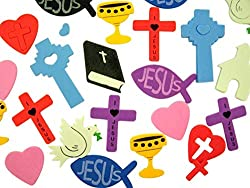 Religious Foam Sticker Assortment for Sunday School