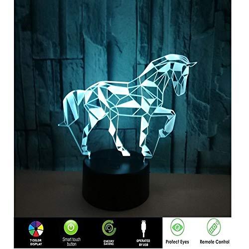 XC paard van de geschiedenis, romantisch droommodel, 3D-nachtlampje, lamp voor kinderen, plug-in