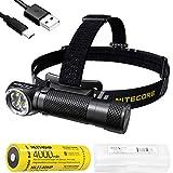 NITECORE HC35 2700 Lumen USB Rechargeable 21700 L-Shape Detachable Headlamp Flashlight with Lumen Tactical Battery Organizer