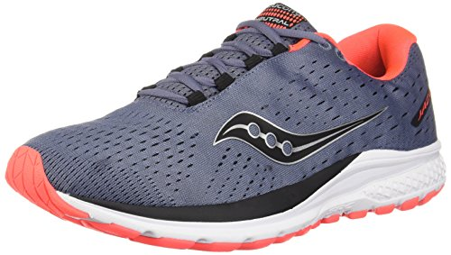 Saucony Men Jazz 20 Neutral Running Shoe Running Shoes Grey - Black 10