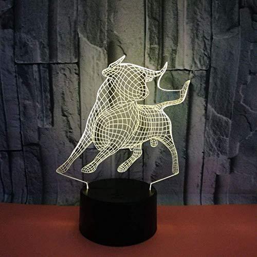 16 Cambio de Color Lámpara de Noche de Ilusión óptica 3D En...