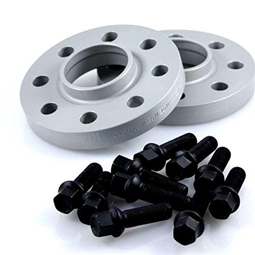 Preisvergleich Produktbild TuningHeads / Eibach 426158.DK.SB-S90-2-20-017 Spurverbreiterung,  40 mm / Achse + schwarze Radschrauben,  40 mm / Achse