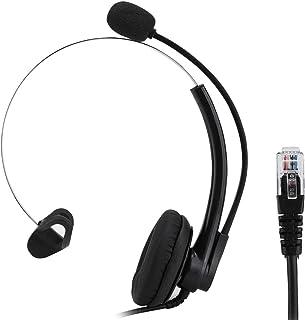 Call Center Headset, A16-RJ Doble reducción de Ruido Teléfono Auricular Servicio al Cliente Operador Auricular RJ11 Crysta...