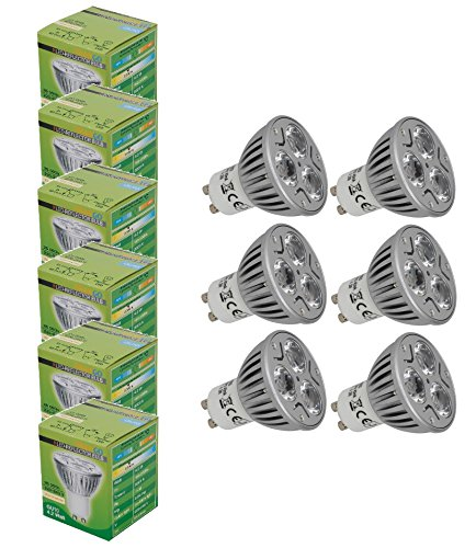 Trango 6er Pack 4.2 Watt High Power LED Leuchtmittel in hochwertige Alu TGGU1003 (6er Pack)