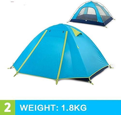 Ashuang 3-4 Personnes Tente de Camping Double Couches en Aluminium Tige 3 Saison en Plein air randonnée Jouer Tente de Jeu étanche à la Pluie