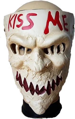 LJSHU Halloween Maske Kuss Mich Brief Horror D n Helm Neuheit Party Kostüm Dekoration Requisiten