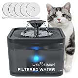 WEGOLIMME Pet Drinking Water Fountain for Cats and Dogs, 3L Automatic Water Dispenser with 5 Replacement Filters, Super Quiet | Smart LED Night Light | Hygienic Environmentally Friendly