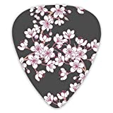NiYoung 12 PCS Guitar Picks Variety Personalized Guitar Pick 3 Thickness, Thin, Medium, Heavy for Bass, Acoustic & Electric Guitar, Cherry Blossom