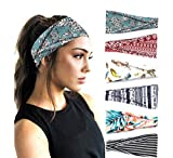 PLOVZ 6 Pack Women's Yoga Running Headbands Sports Workout Hair...