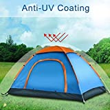 SUKHADAnti Ultraviolet Outdoor 6 Person Camping Tent Portable Foldable Tent for Picnic/Hiking/Trekking Tent