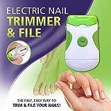 YAeele 電気ネイルカッターとやすり 安全で高速の爪切り 2-in-1ペディキュアツール 電子マニキュア-1PCS