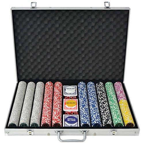 Festnight - Set da poker con 500fiche in una valigetta di alluminio