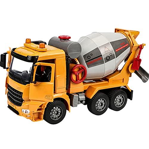 Coches Hormigonera Juguete, Grande Construcción Camion con LED Y Efectos Sonido, El Tambor Puede Girar, Puertas Dobles Abiertas, Cumpleaños para Niños