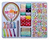 JIEERCUN Bricolaje Kit de artesanía Colorido de Juguete de Abalorios Hechos a Mano con Tijeras Cuerda Elástica Abre Class de Langosta Joyas (Color : Multi-Colored)