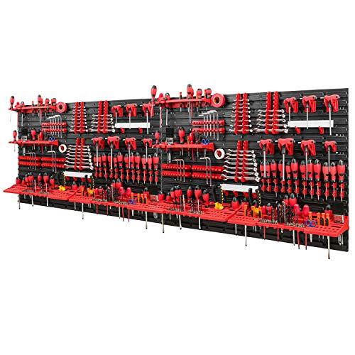 Werkzeugwand -2304 x 780 mm - Set 116 Werkzeughaltern mit Lochwand Lagersystem Warkzeuglochwand Wandregal Werkstattregal
