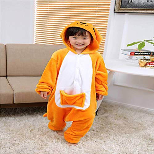 Unisex pyjama volwassen dier onesies flanel kinder kangoeroe cartoon eendelige pyjama herfst en winter dier warme vrouw thuis kleding, JUSTTIME 110# Kangoeroe