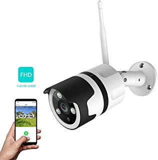 NetVue Camaras de Vigilancia Wifi Exterior 1080P Compatible con Alexa Exterior IP66 Resistente al Agua Resistente al Polvo estática con visión Nocturna vigilancia per LAN & WiFi conexión