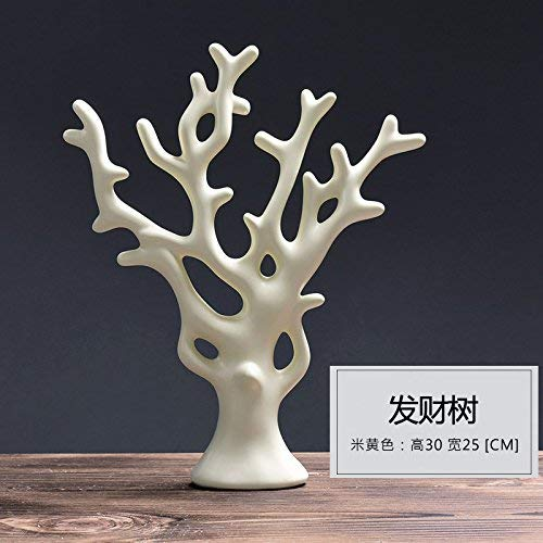 ZXL De eenvoud van moderne keramische decoratie creatieve inrichting salon tv-kast garderobe decoratie dier Visionario hert, de rijke Beige rijke boom A