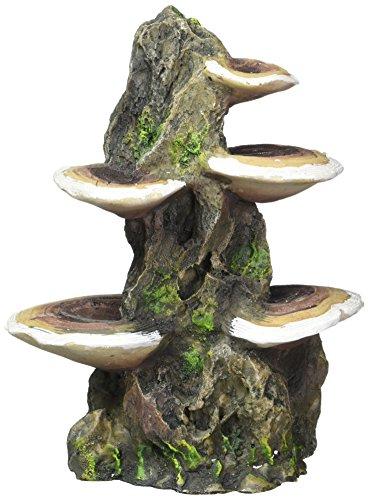 Pen Plax RR1007 Mushrooms on Rock Aquarium Ornament, Medium/5.5
