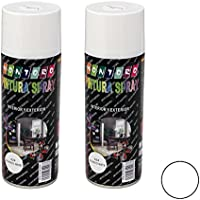 Montoro - Pack de 2 botes de pintura en spray Blanco Mate A24 400 ml