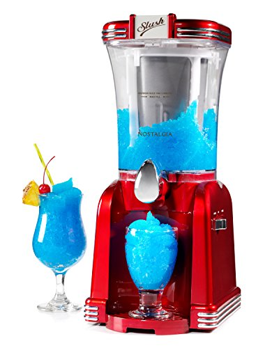 Nostalgia RSM650 32-Ounce Slush Drink Maker, Retro Red