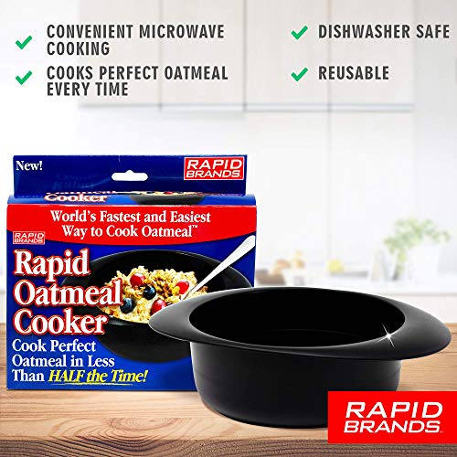 Product Image 6: Rapid Oatmeal Cooker   Microwave Instant or Old-Fashioned Oats in 2 Minutes   Perfect for Dorm, Small Kitchen, or Office   Dishwasher-Safe, Microwaveable, & BPA-Free