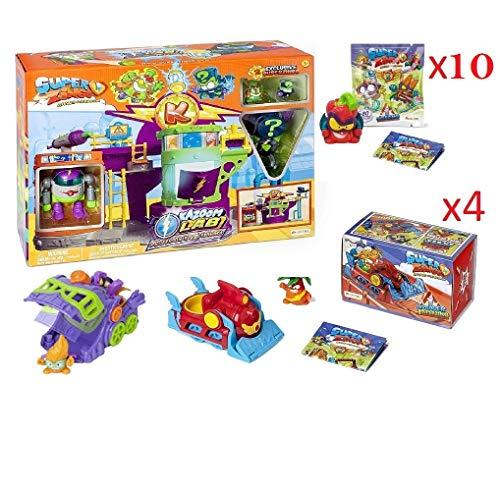 SuperZings Serie 5 - Pack Sorpresa con 15 Pcs De Juguetes y Regalos para Niños y Niñas - Contiene 10 Sobres One Pack, 4 Skyracers (Kazoom Lab)