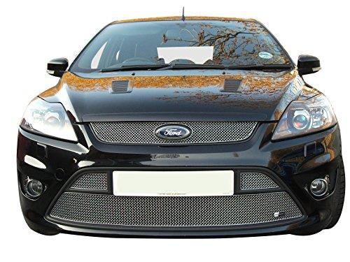 Zunsport Compatible con Ford Focus ST Am 2008 - Conjunto de Parrillas Delanteras - Acabado Plata (De 2008 a 2010)