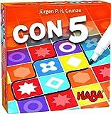 HABA-con 5-ESP 305286-CON5-ESP, Familiar a Partir de 7 años, 2 Opciones de Juego y una Variante en Solitario, también Adecuado para el daltonismo, Multicolor (H305286)