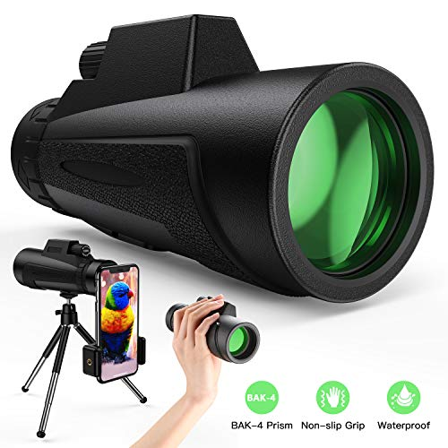 Monocular Telescope - 12X50 High Power HD Monoculars with Holder & Tripod  Waterproof Pocket Scope for Smartphone - Clear…- Buy Online in Costa Rica  at costarica.desertcart.com. ProductId : 168166165.