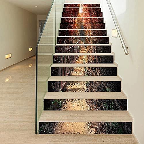 Pegatinas De Escaleravinilos Escaleras Vinilos Para Pared 1 Set / 13Pcs Pegatinas De Pared, Escaleras, Escaleras Decorativas, Pegatinas De Auto-Paso, Pegatinas 3D, Baldosas De Piso Y Piso Reformados,